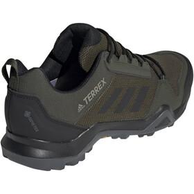 adidas TERREX AX3 Gore-Tex Hiking Shoes Waterproof Men night cargo/core black/raw khaki